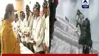 Textile minister Smriti Irani celebrates Rakshabandhan with army men in Siachen