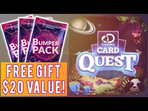 FREE GIFT $20 VALUE! Discovery Card Quest by Discovery Channel! Live PVP & Bumper Pack Opening