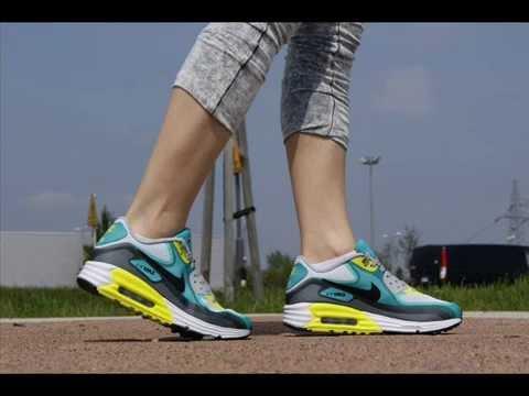Nike Air Max 90 Lunar Gs 636229-103 White Black Turbo Green - Butyjana.pl -  YouTube e737ae3d2