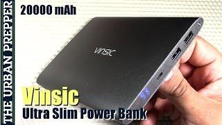 Vinsic 20000mAh Ultra-slim Power Bank Review