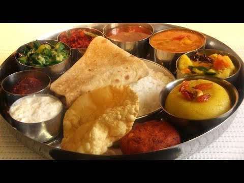 Vegetarian Full Meal In 65 Minutes / Thali Meal