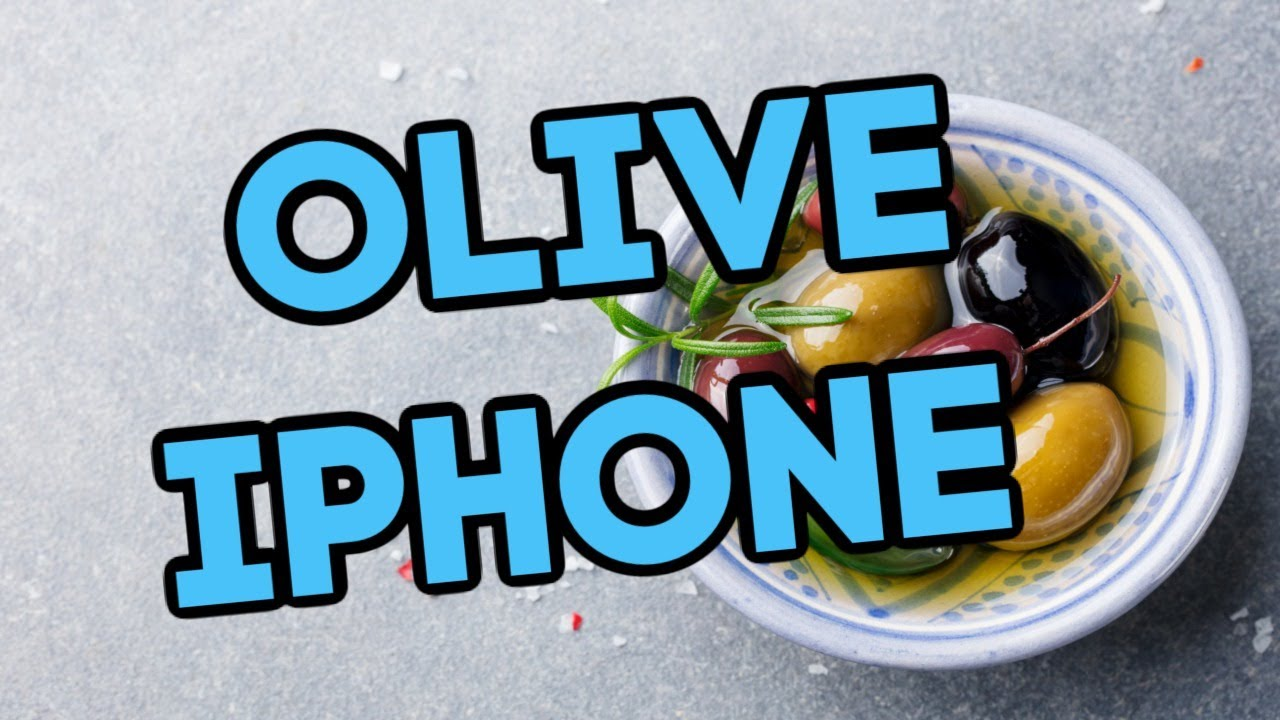 What to do when your phone falls into the olives.