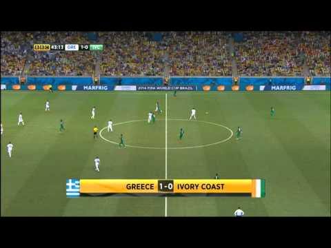 Greece Ivory Coast 2014 World Cup Full Game BBC