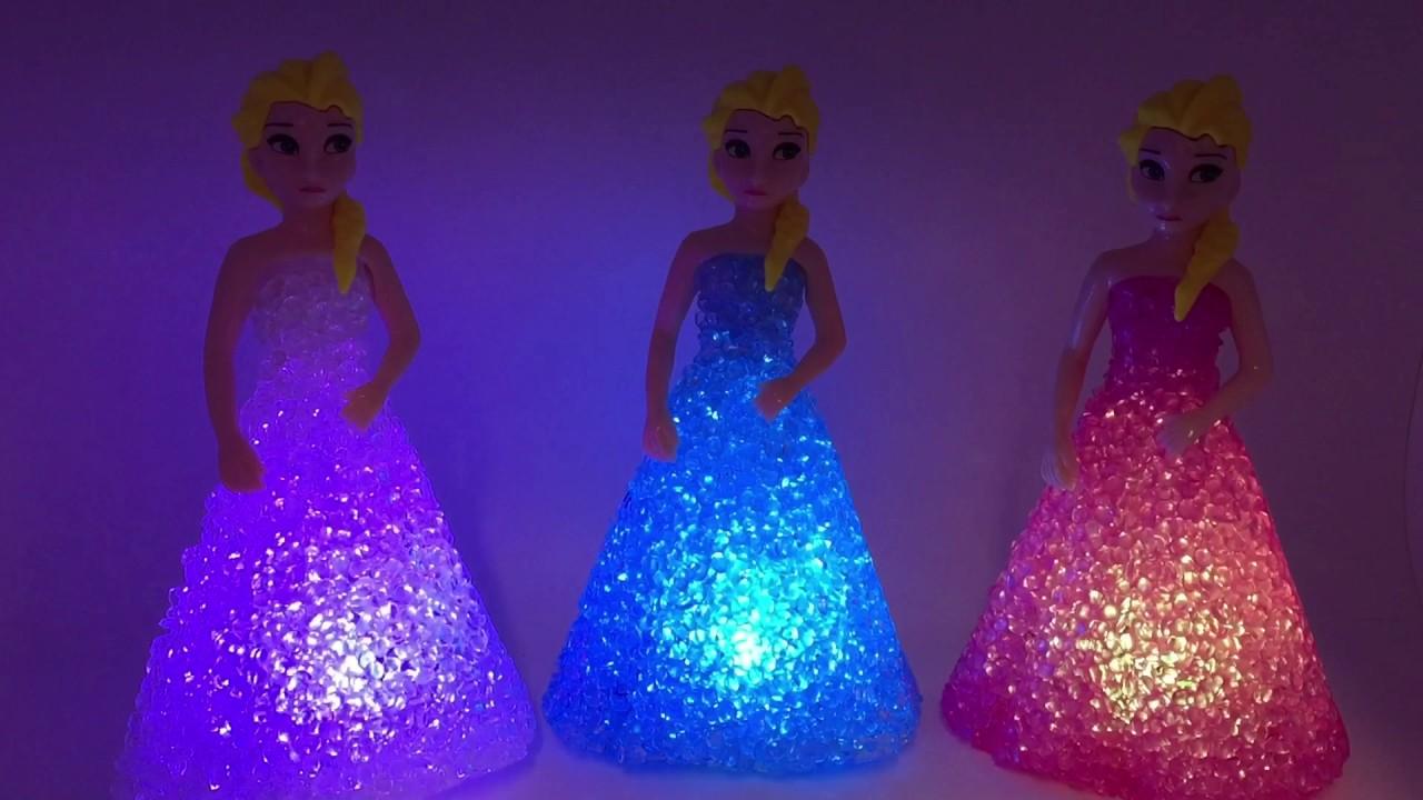 Frozen Elsa led lamp - YouTube