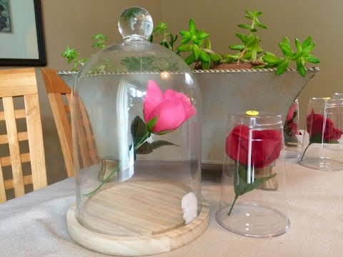 Beauty And The Beast Enchanted Floating Rose Diy Cheap Using Left