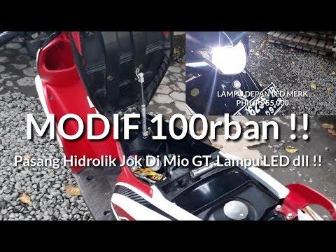 Modif Simple dan Murah !! Pasang Hidrolik Jok Di Mio GT dan Lampu LED