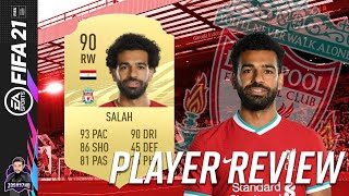 BEST WINGER IN FIFA 21? 90 RATED MOHAMED SALAH PLAYER REVIEW FIFA 21 ULTIMATE TEAM THE EGYPTIAN KING
