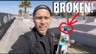 BROKEN GOPRO BY STRAPPING UNDER SKATEBOARD