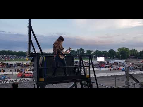 Chris Caffery performs the National Anthem