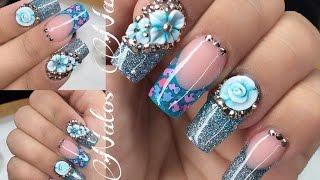 Uñas Acrilicas | Diseño en Azul | Natos Nails thumbnail