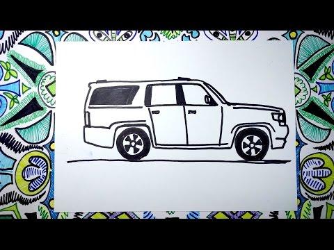 Aprende A Dibujar Una Camioneta Chevrolet Suburban 2017
