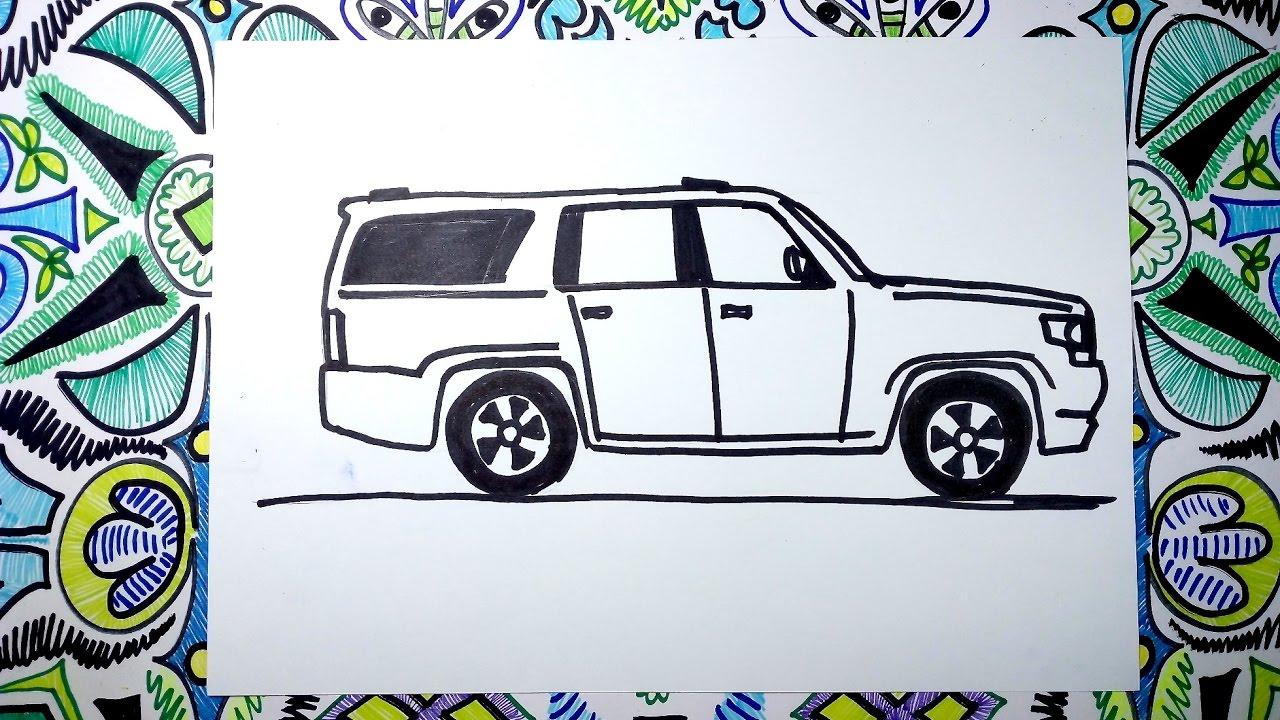 Camioneta Chevrolet Bronco >> Aprende a dibujar una camioneta Chevrolet Suburban 2017 - YouTube