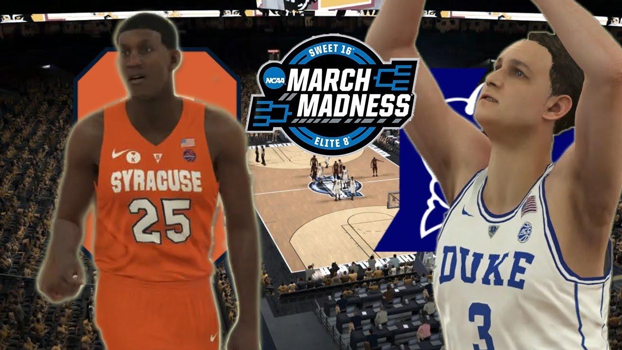 2018 NCAA Tournament Sweet Sixteen  11 Syracuse vs 2 Duke  NBA 2K18 College  Rosters 23db74032