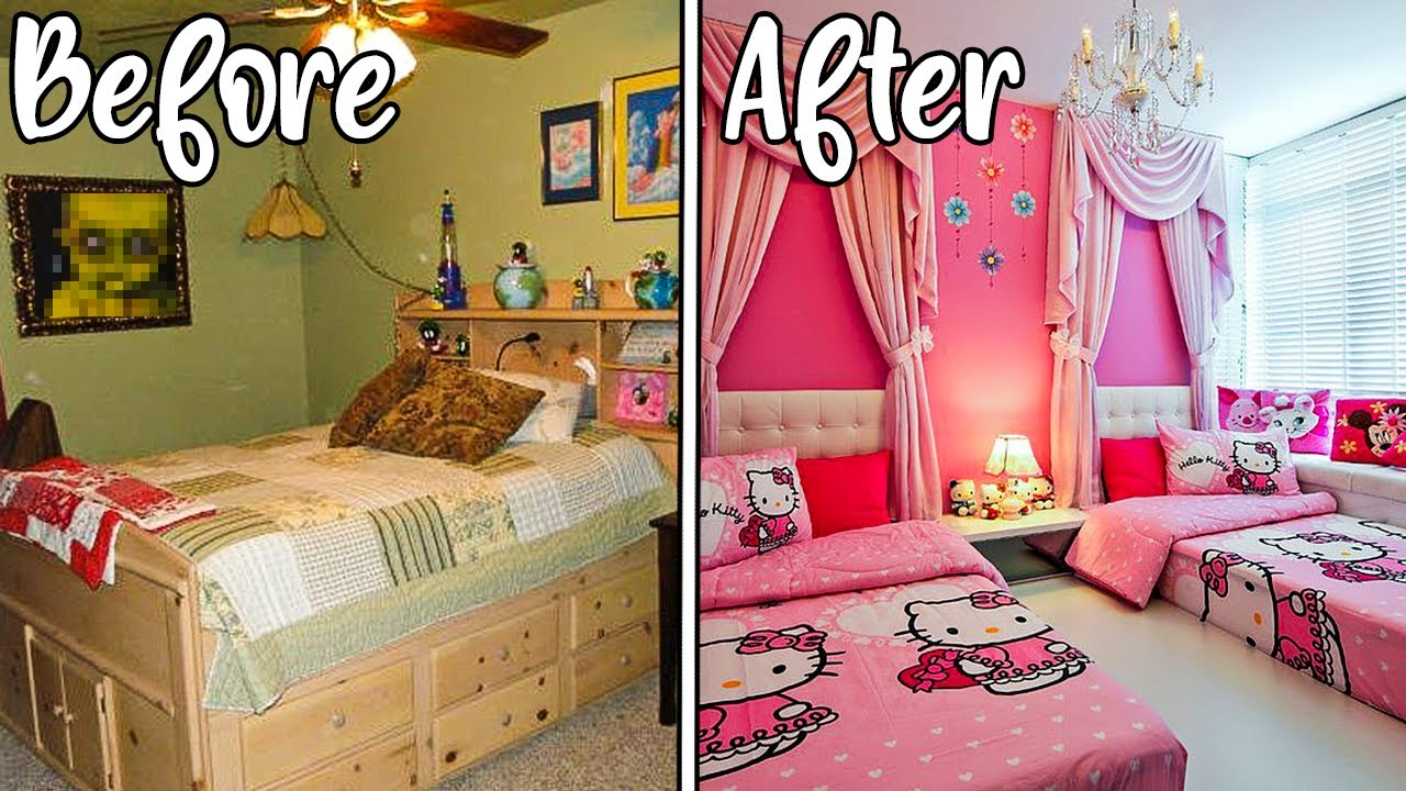 Extreme Bedroom Makeover For My 2 Year Old Daughter *crazy results*