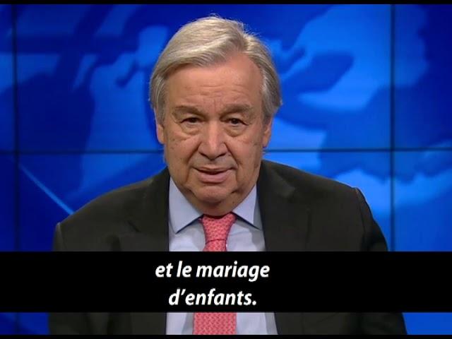 António Guterres :  l'impact de la Covid-19 sur les droits civils & politiques