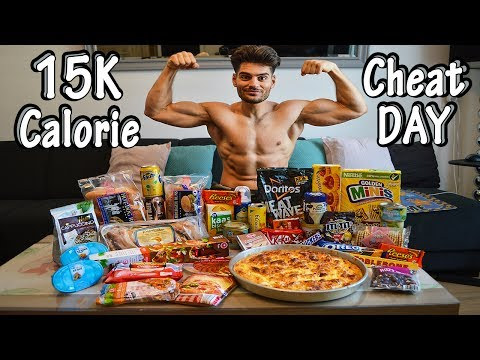 15K CALORIE CHEATDAY | Cakes, Burgers, Pizza & MORE | Man VS Food