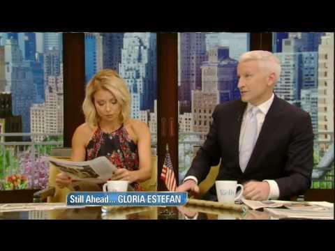Live! With Kelly co host Anderson Cooper 6/01/16 Gloria Estefan (June 01, 2016)
