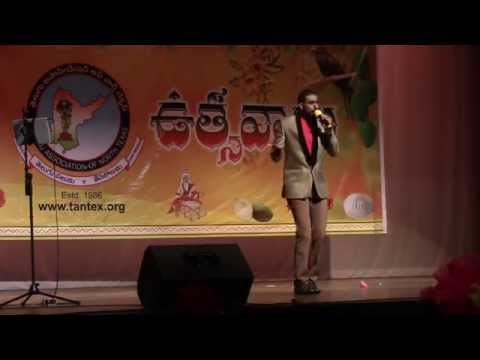 Karunya sings Orange song at TANTEX Ugadhi March 28th 2015 at Trinity High School