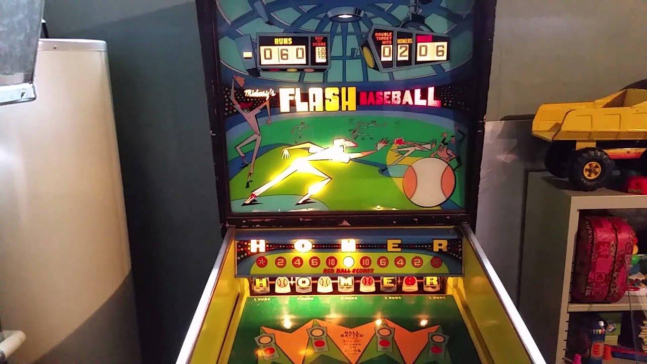 midway s flash baseball pinball machine 1972 game 3 youtube