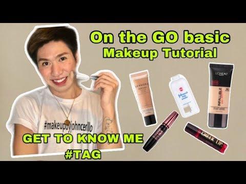 ON THE GO BASIC MAKEUP TUTORIAL plus GET TO KNOW ME TAG - JONH CERILLO (#Makeupbyjohncerillo) thumbnail