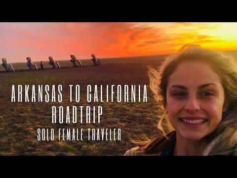 Arkansas to California 3 Day Roadtrip | Solo Female Traveler | Traveling Registered Dietitian