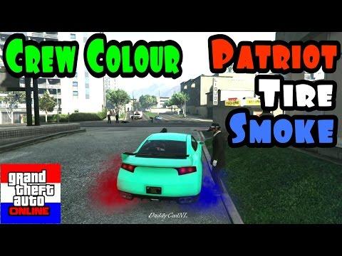 GTA 5 Online: Crew Color Pure Black + Patriot Tire Smoke