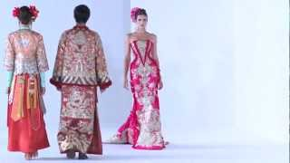 Guo Pei Ci Couture 2013 Fashion Show - #DigitalFashionWeek Singapore 2012