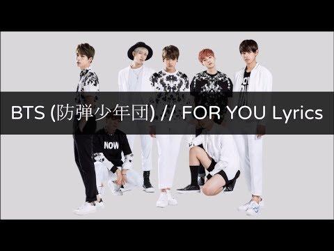 BTS(방탄소년단) - FOR YOU Lyrics Japanese Album [Kan/Rom/Eng]