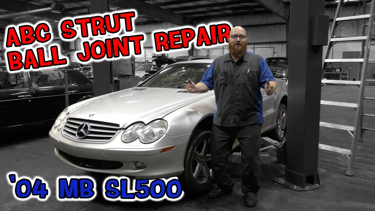ABC Strut ball joint repair. The CAR WIZARD shows to fix ABC strut on '04 Mercedes SL500