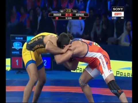 PWL 3 Day 2: Amit Dhankar Vs Harphool wrestling at Pro Wrestling league 2018, Season 3