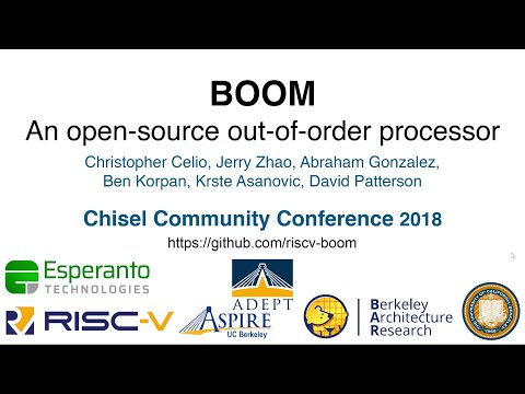 BOOM Intensive (Architecture Track) - Chisel Community