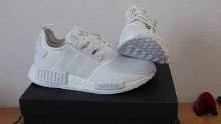 d610d5a64df16 The Holy Adidas NMD R1 Mesh White Very pointed Unboxing and Review