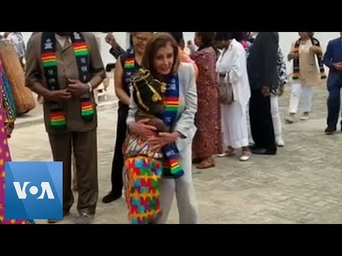 Nancy Pelosi Commemorates 400th Anniversary Of Slave Trade In Ghana