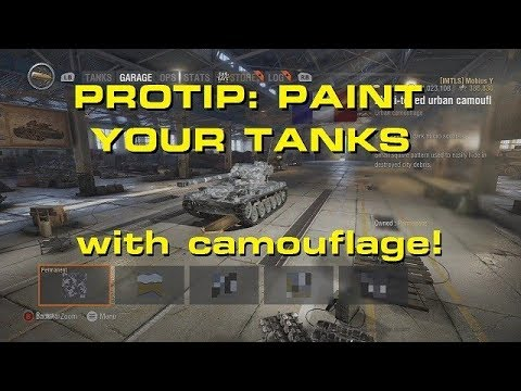 PAINT YOUR TANKS with Camouflage! - WORLD OF TANKS CONSOLE