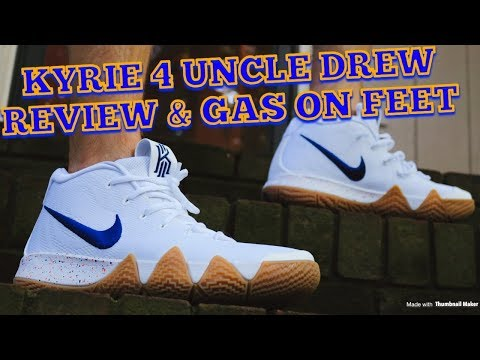 Nike Kyrie 4 Uncle Drew Review & Gas On Feet!!