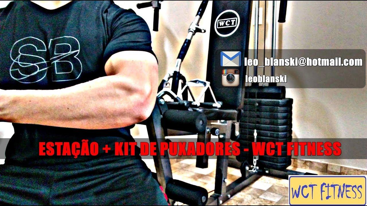 8824868fba790 Estação de Musculação + Kit Puxadores WCT FITNESS - YouTube