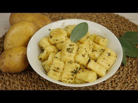 Gnocchi Grundrezept | Italienische Kartoffelklößchen mit Salbei Butter