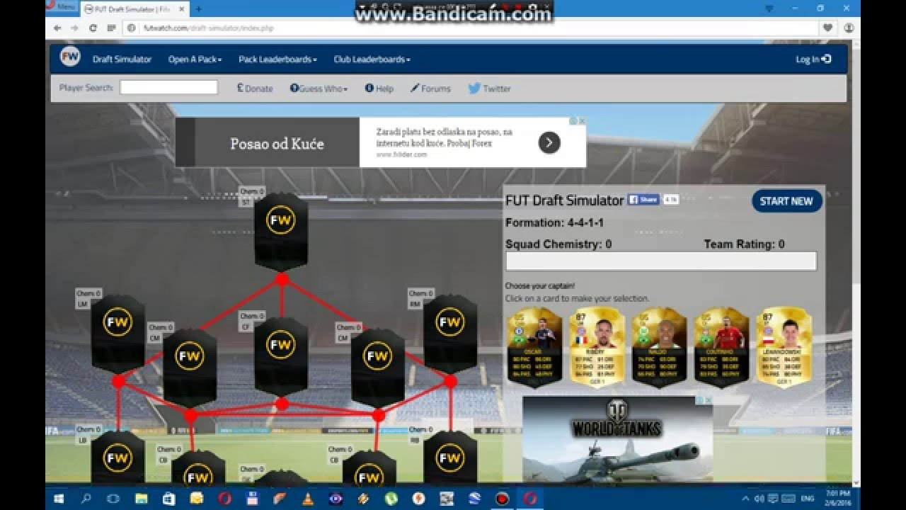 Fifa 16 fut draft simulator EP.1 - YouTube