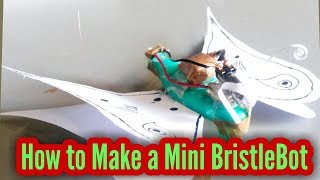 how to make a bristlebot using toothbrush
