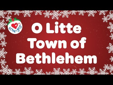 O Little Town of Bethlehem with  Lyrics Christmas Carol Sung by a Kids Choir