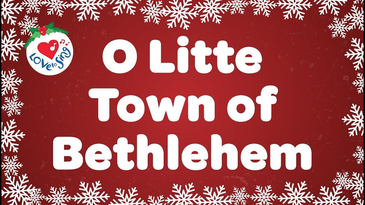 Christmas Carols Youtube.O Little Town Of Bethlehem With Lyrics Christmas Carol Song Children Love To Sing