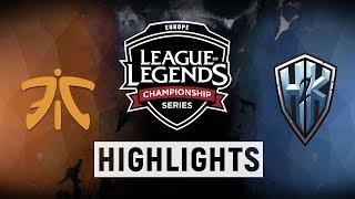 FNC vs. H2K - EU LCS Week 2 Day 1 Match Highlights (Summer 2018)