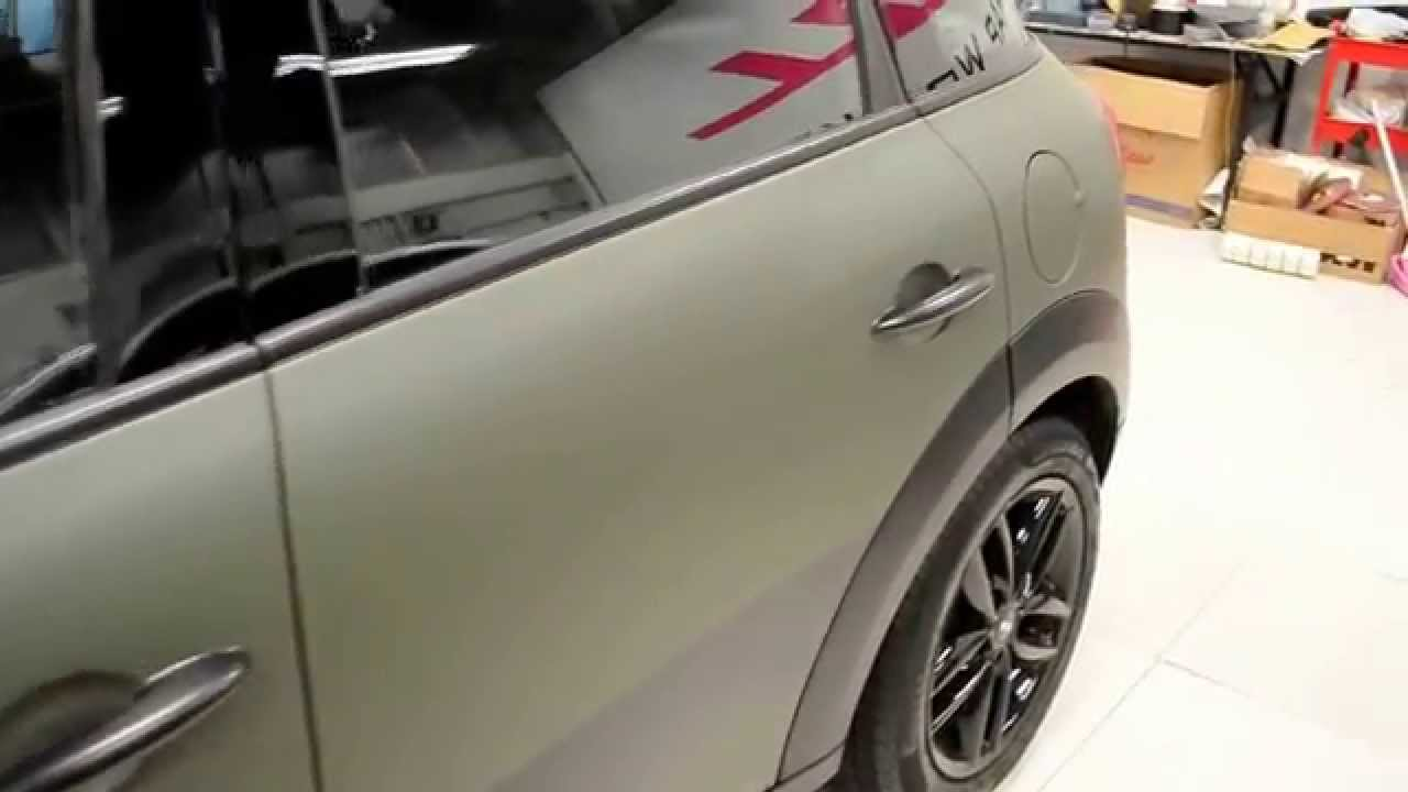 Matte Military Green Mini Cooper S Countryman By Wrap Workz Hong