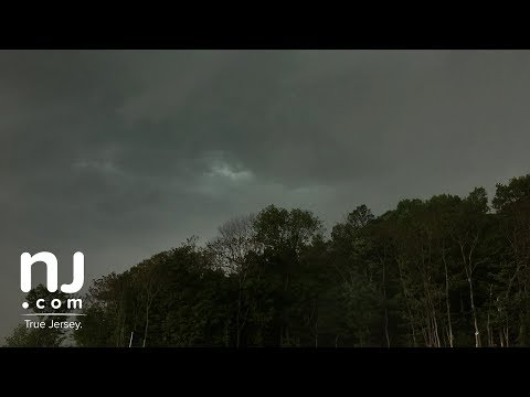 Thunderstorm moving into New Jersey captured with time-lapse