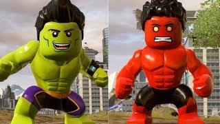 LEGO Marvel Superheroes 2 - Red Hulk(Transformation) Vs Amadeuscho(Transformation)