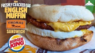 Burger King® Freshly Cracked Egg English Muffin Sandwich Review! 👑🍳