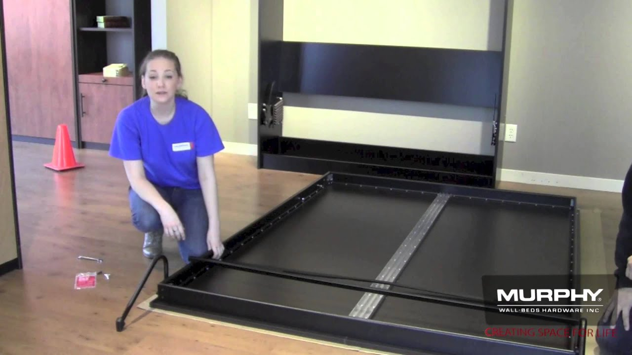 8 Installing The Legs And Crossbar On Murphy Bed