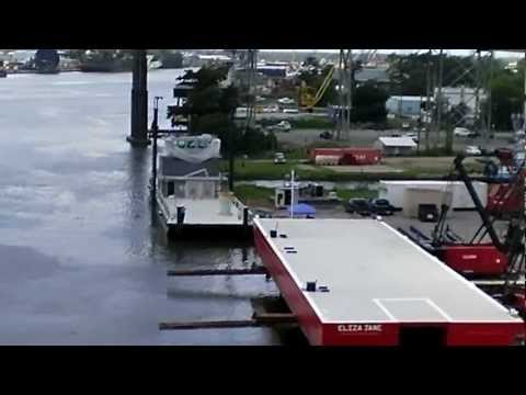 1 Deck Barge Launched Amelia, LA 7 25 12