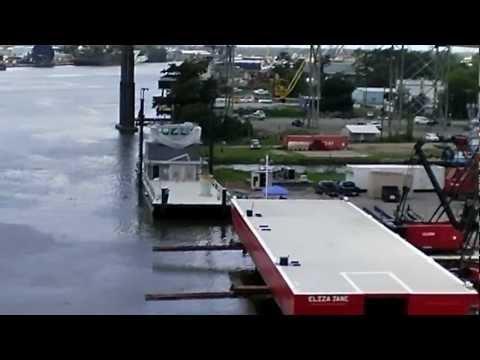 1 Deck Barge Launched Amelia, LA 7 25 12