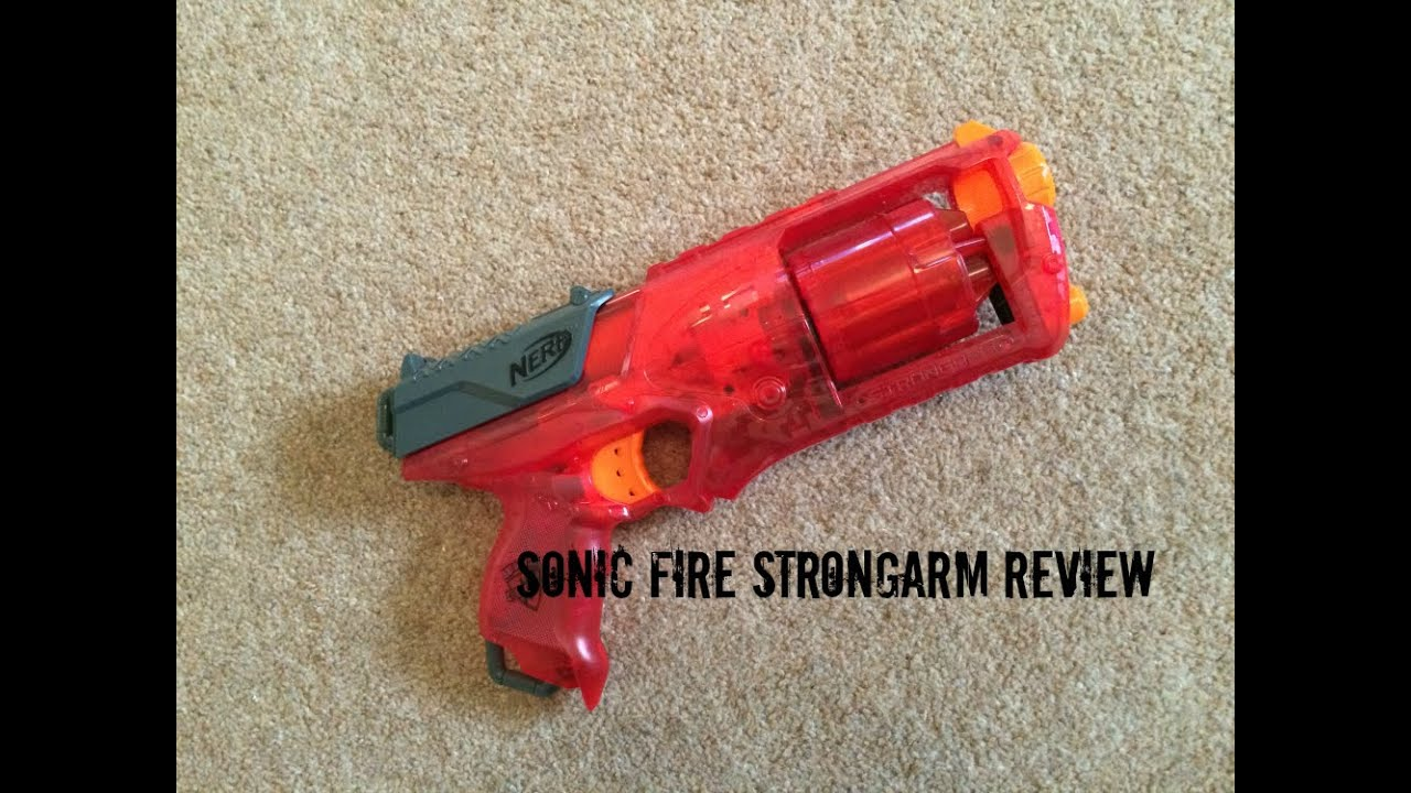 NERF NStrike Elite Sonic Fire Strongarm Blaster by Hasbro q79uzG0Kb